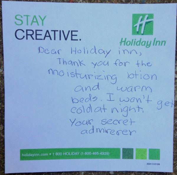 Another note from our secret admirer! By twitter user @Saintfam