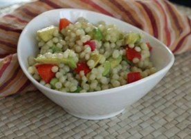 Avocado and Red Pepper Israeli Couscous | Recipe