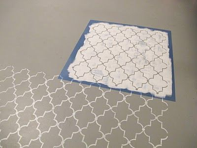 How to stencil a floor