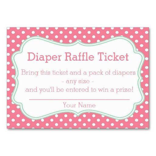 Diaper raffle tickets template