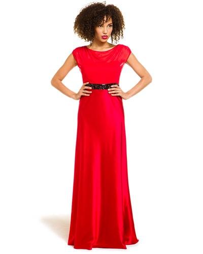 hoaglund new york Lipstick Red Silk Gown