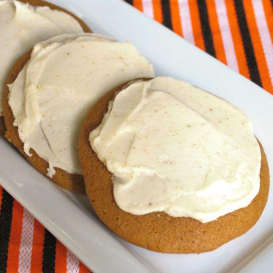 Pumpkin Cookies with Brown Butter Icing | Food | Pinterest