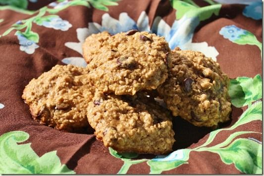 Oatmeal Almond Butter Chocolate Chip Cookies