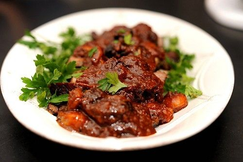 Sweet & sour brisket with pomegranate molasses and dried fruit from ...