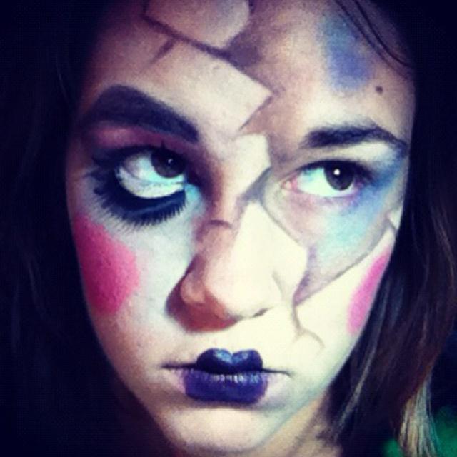 halloween broken doll costume uk