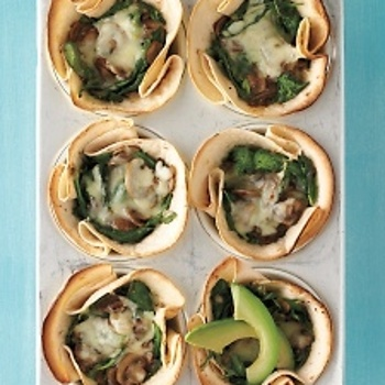 Mushroom-and-Spinach Cups | Veronica's Diners, Drive-Ins, and Dives ...
