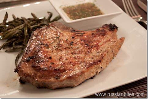 ... broth - 1/4t salt - 1/4t paprika - 2 large pork chops - 1T olive oil