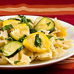 Farfalle Pasta with Zucchini and Yellow Squash