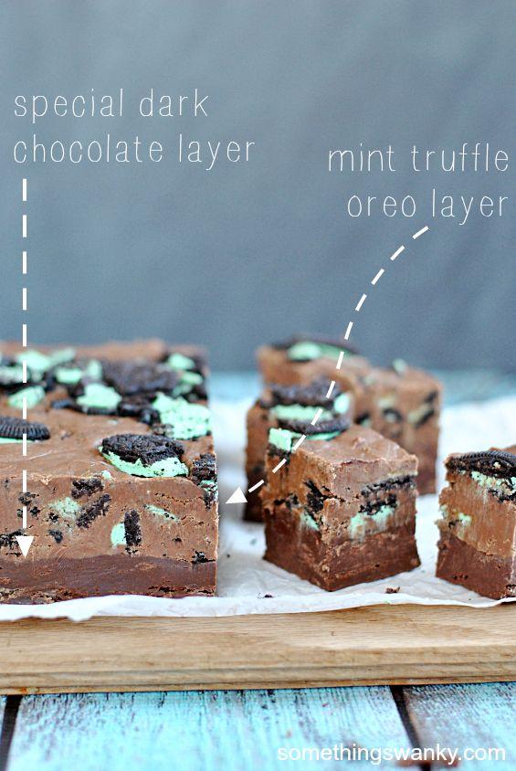 Special Dark Chocolate Mint Truffle Oreo Fudge | www.somethingswanky ...