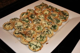 Never trust a skinny cook....: Spinach ricotta cups