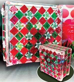 Pin by dolly winkels on crafts wine bottle jars glass for Clear glass blocks for crafts