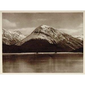1926 Twin Tree Lake Jasper National Park Alberta Canada - Original Photograph