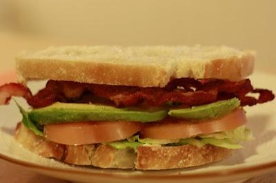 Mmm...Cafe: B(Bacon) L(Lettuce) A(Avocado) T(Tomato) Sandwich
