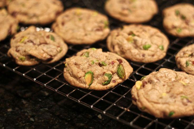 Dark Chocolate, Pistachio and Sea Salt Cookies