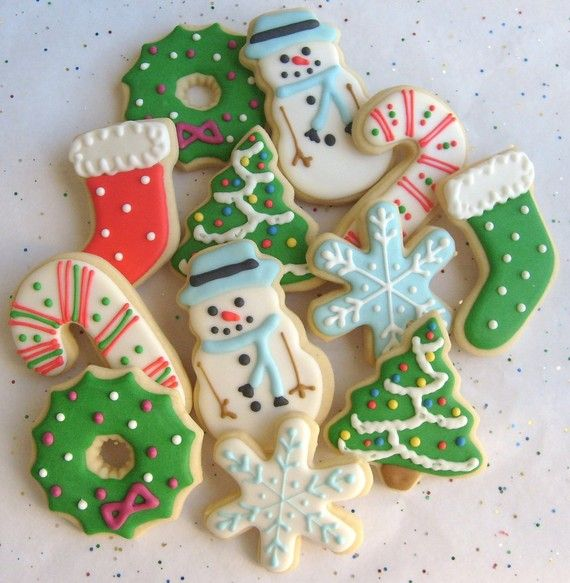 CHRISTMAS COOKIE MIX - Christmas Decorated Cookies - 1 Dozen