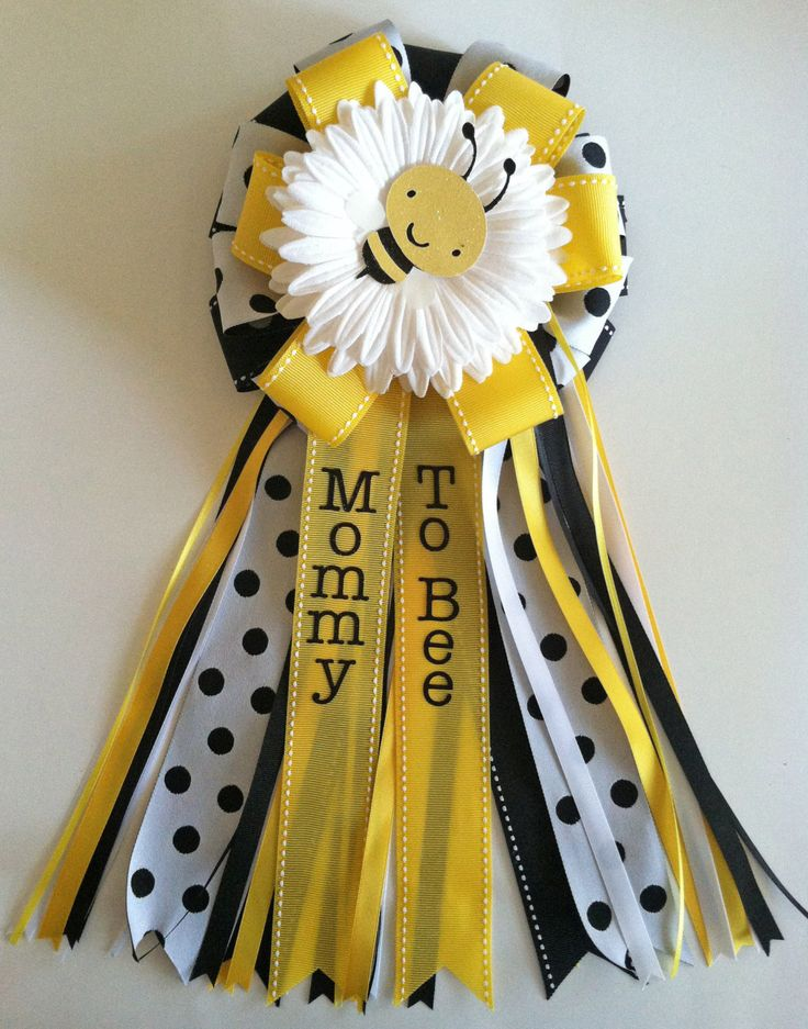 bumble bee baby shower corsages pins. Black Bedroom Furniture Sets. Home Design Ideas