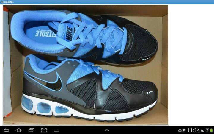 Nike black and italian blue