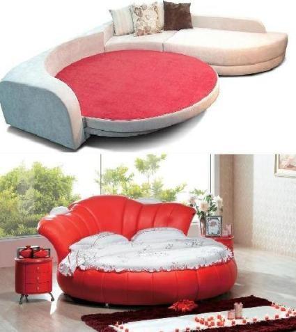 modern round leather bed models 2012 bed models pinterest