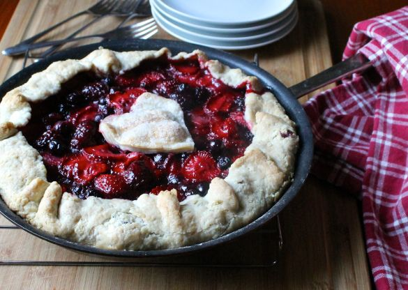 Mixed Berry Galette (Grace Parisi) | Sweet | Pinterest