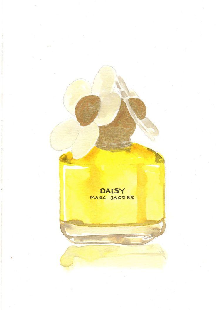 perfume bottle illustration marc jacobs daisy eau de parfum. Black Bedroom Furniture Sets. Home Design Ideas