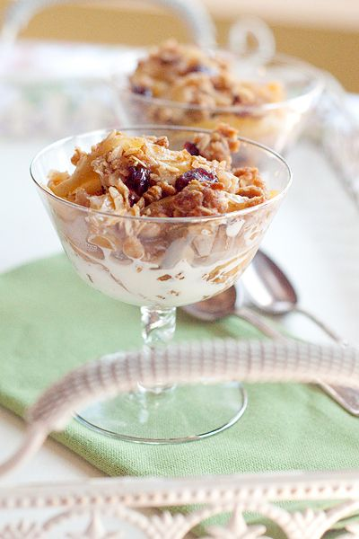Apple-Cranberry Crumble from @NevrEnoughThyme www.lanascooking.com ...