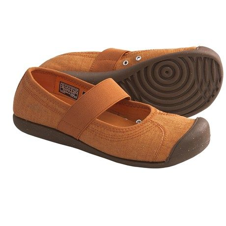 Keen Sienna Mary Jane Shoes - Canvas (For Women) in Burnt Orange