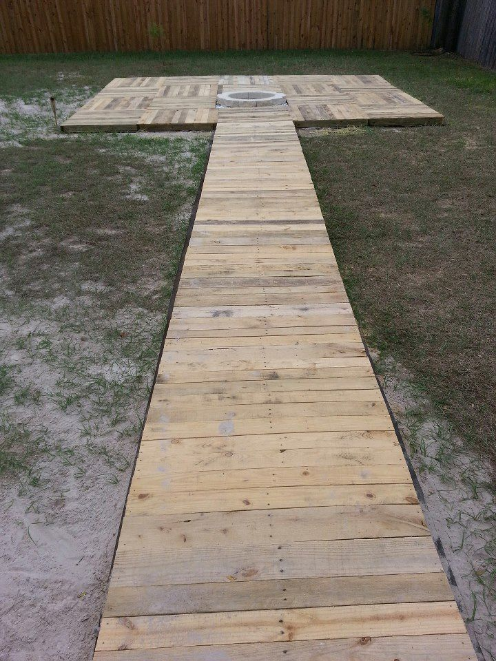 how to build a ground level deck on grass