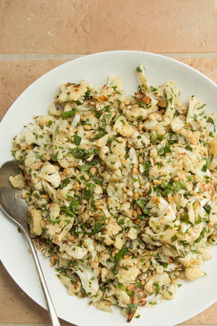 Cauliflower w/ Pomegranate Molasses, Pine Nuts & Mint — Chef Jamie ...