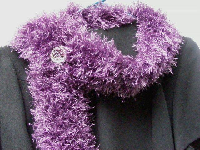 Eyelash Yarn Scarf Knitting & Crocheting Pinterest