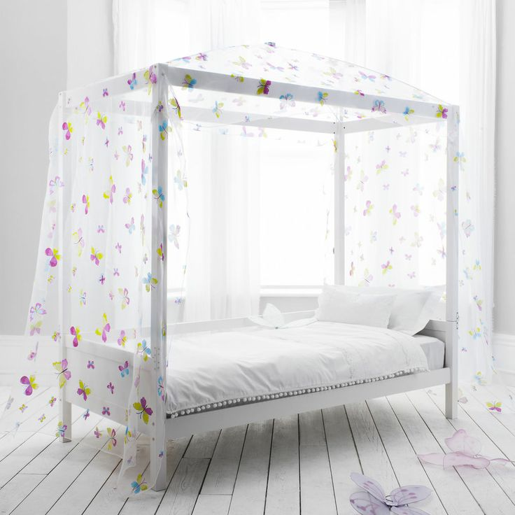 Best Butterfly Canopy Daybed 4 Poster Bed Kids Bed 640 x 480