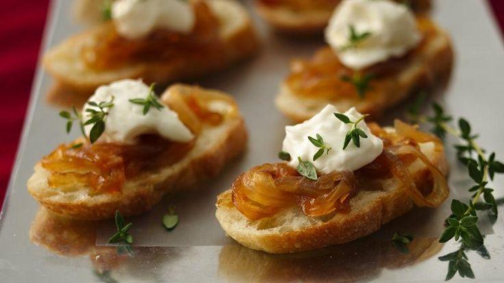 Crostini with Caramelized Onion Jam ~ 1 can (11 oz) Pillsbury ...