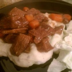 Beer Braised Irish Stew and Colcannon Allrecipes.com