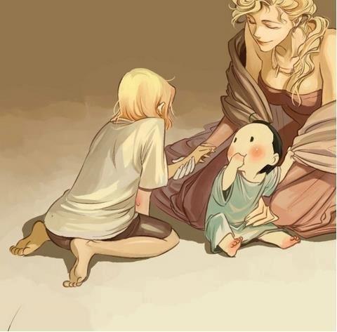 Family moment- Frigga, Thor, and Loki