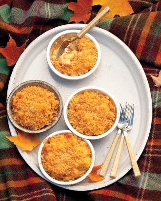 Fall three cheese Mac n cheese, serve in ramekins