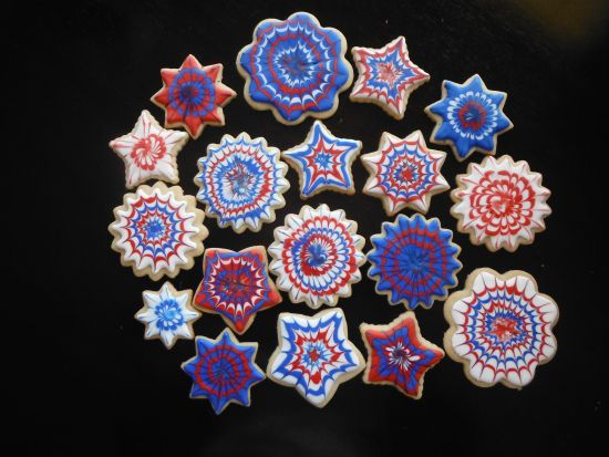 Firework Cookies | Cookie Decorating | Pinterest