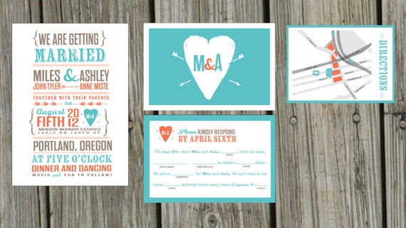 Wedding Invitation Rustic Heart Or State