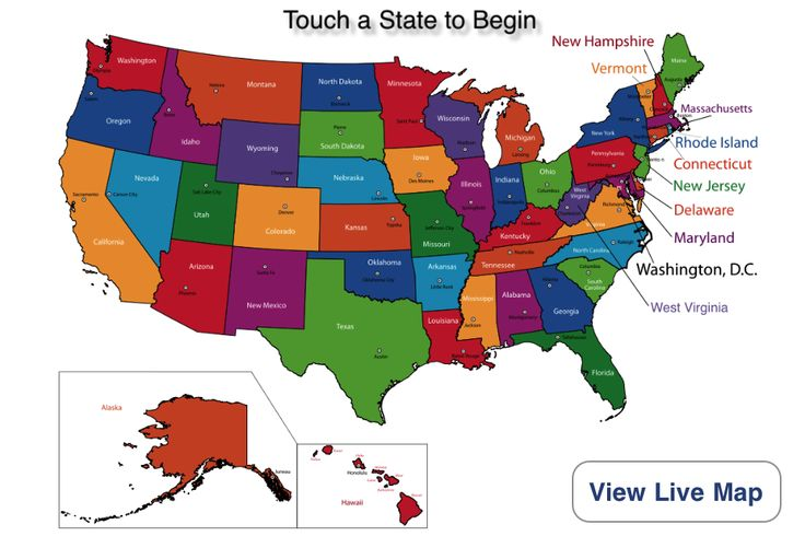 The American States and Capitals app makes it fun and easy for children and adults to learn the state capitals, nicknames, official birds and flowers, and other key information about each U.S. state