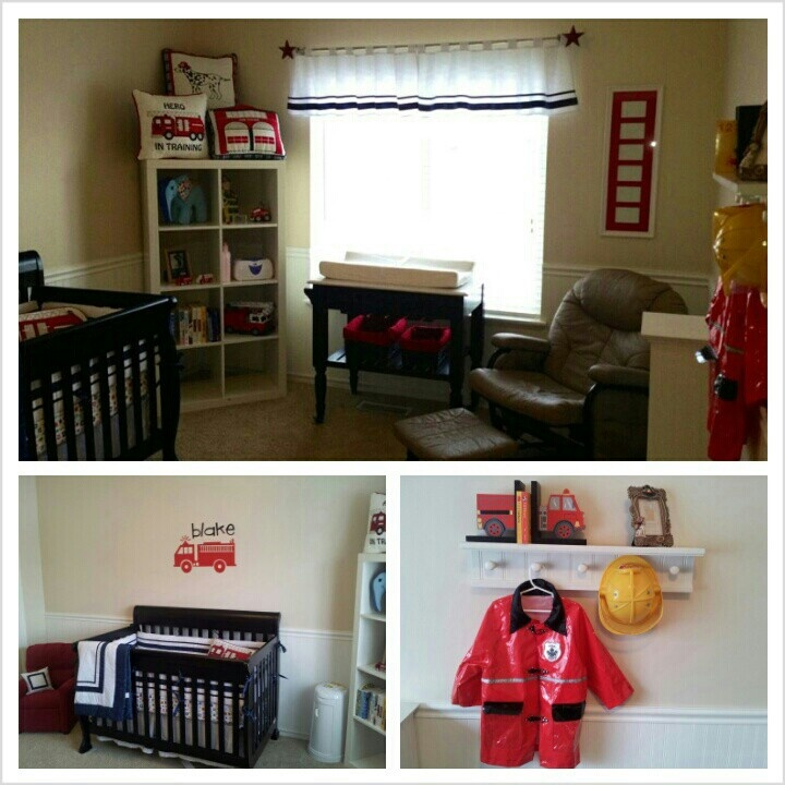 Blake 39 S Room Firefighter Boy Nursery Baby Blake Pinterest
