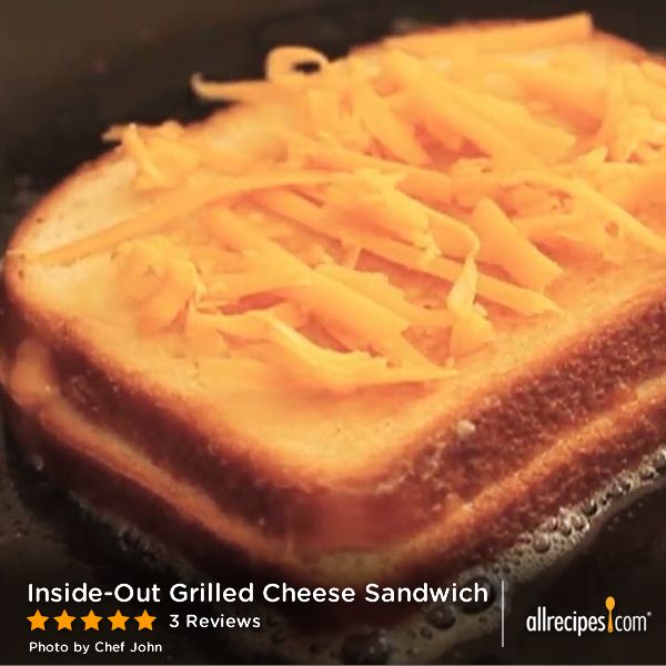 "Inside-Out Grilled Cheese Sandwich | Chef John says ""this crispy ..."