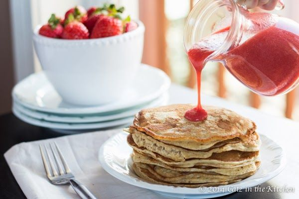 seed pancakes pecan wheat pancakes with maple bourbon strawberries ...
