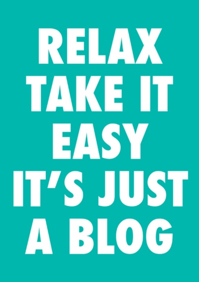 zeroing:    Blogging is Fun