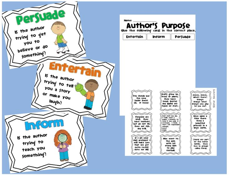 Free 2nd Grade Cut And Paste Author S Purpose   myideasbedroom.com