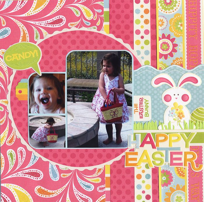Happy Easter! - Scrapbook.com - #scrapbooking #layouts