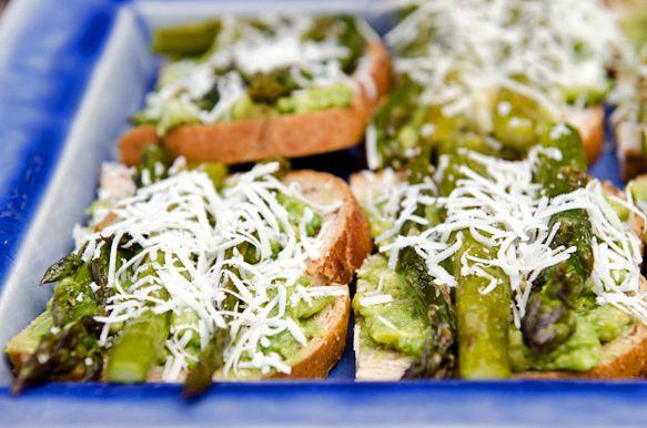 Roasted Avocado Asparagus Tartine