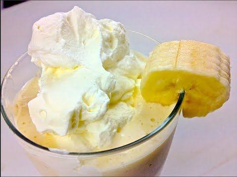 Banana Cream Pie Milkshake - YouTube | My video recipes | Pinterest