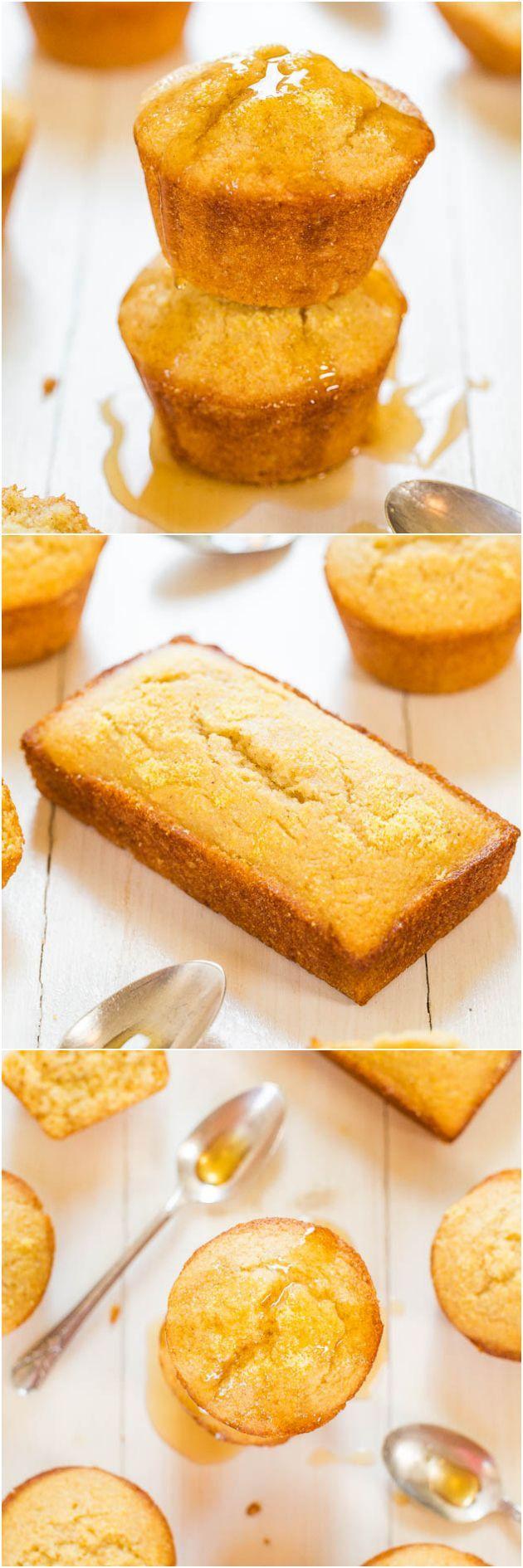 Honey Cornbread Muffins - Finally cornbread that's not dry! Fluffy ...