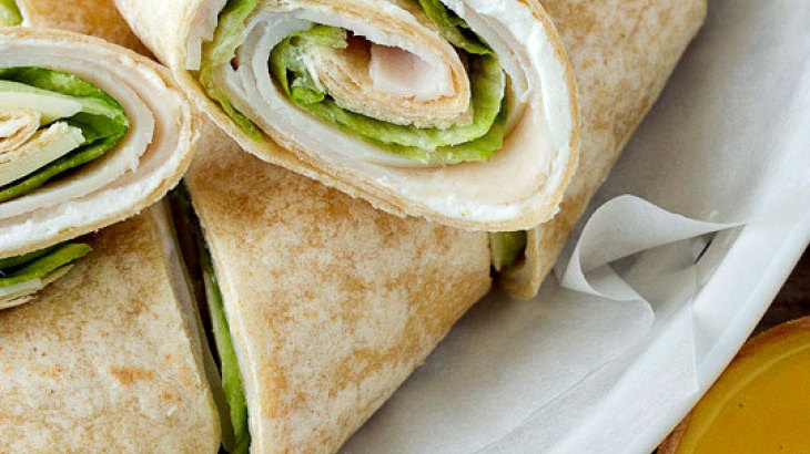 Turkey Wraps with Honey Mustard Dip | Can't wait to try | Pinterest