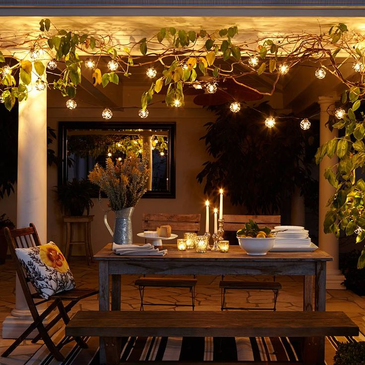 Ambiance with indoor string lighting backyard pinterest - Eclairage d ambiance exterieur ...
