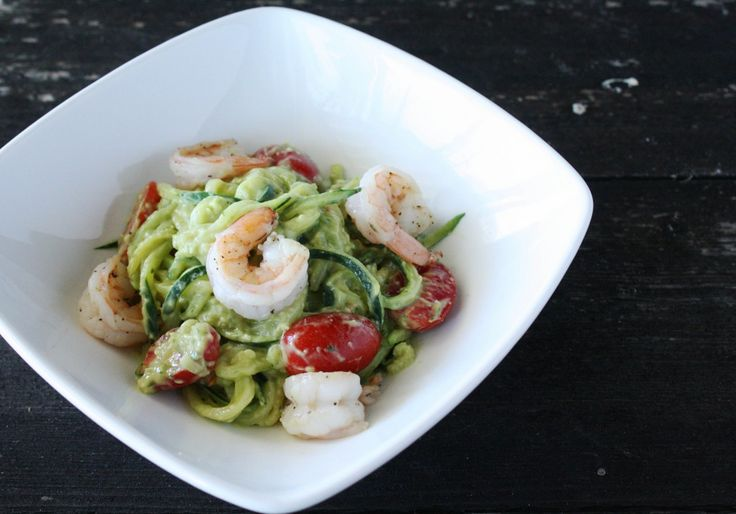 Zucchini pasta with creamy avocado sauce | Linner, if you will | Pint ...