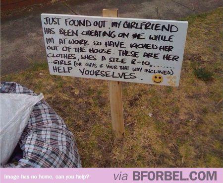 cheating girlfriend valentines day gift english